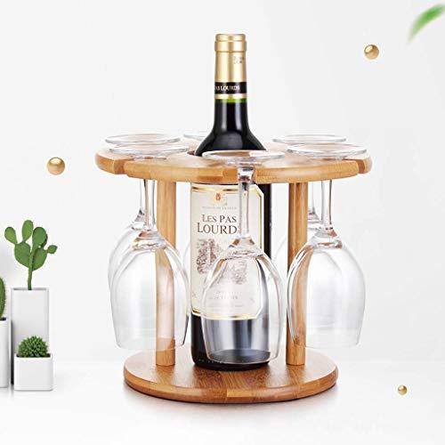 gal Und glashalter Massivholz Weinregal Desktop Tischdekoration Einfache Weinregal Hohe Becherhalter Für Küche Weinkeller Wein Zeigen (Size : 25 * 25cm) ()