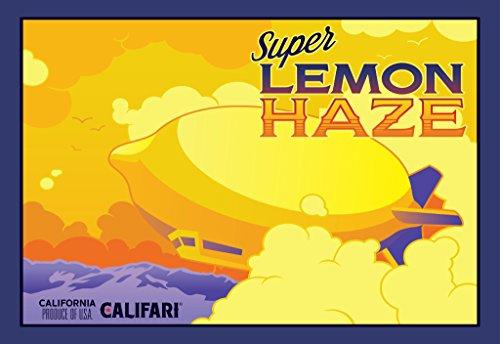 Super Lemon Haze-Full Color Sorte Art Poster mit berühmten Topf, Weed, Marihuana, Ganja aus Aller Welt-13x 19Druckvorlage von Drucken (Lemonhead Candy)