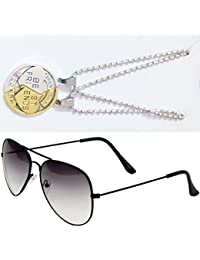 Sheomy Combo Of Friendship Coin Best Friends Pendant And Half Black Aviator Sunglasses Best Online Gifts