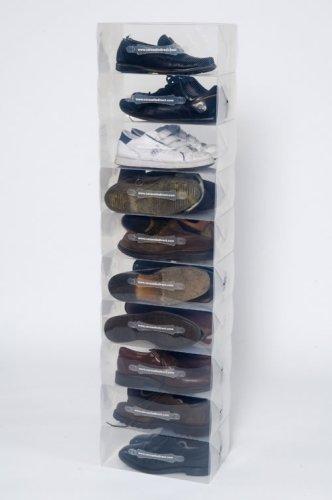 ShoeCube 10Klar Herren Schuh Aufbewahrungsboxen