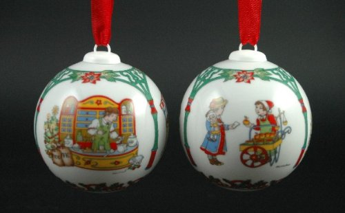 Hutschenreuther Weihnachtskugel 1998*Rarität, Baumkugel, Porzellankugel, Anhänger, Baumanhänger, Baumschmuck, Weihnachten -