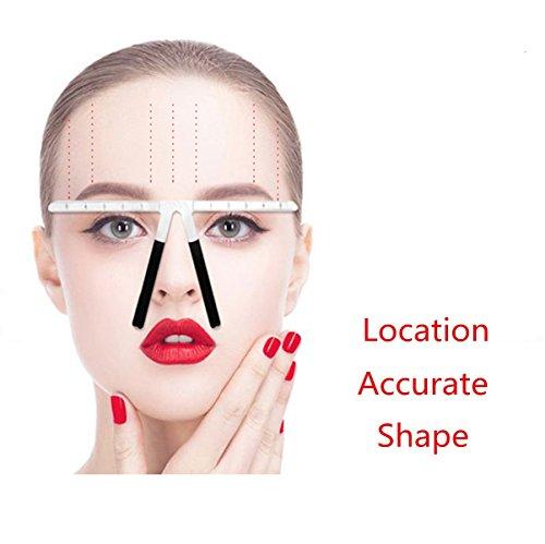 Augenbrauen-Lineal, Wiederverwendbare Augenbraue Gleichgewicht Lineal Drei-punkt-Position Verwendungierung Gleichgewicht Augenbraue-Formen Stencil Werkzeuge Make-up Augenbrauen Lineal