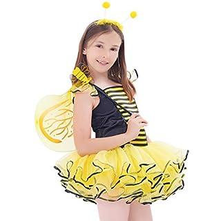 IKALI Déguisement Abeille Enfants Fille, Princesse Fantaisie Costume, Fée Ballerina Tutu Jupe