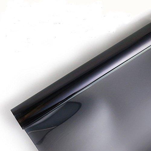 Concus-T Fenster Folie Spiegelfolie Anti-UV Selbstklebend mit Kleber Sonnenschutzfolie Tönungsfolie UV-Schutz 60x200cm (Tönungsfolie 80)