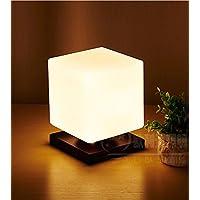 E27 Vetro Ghiaccio lampada da tavolo minimalista moderno stile caldo Soggiorno Camera da letto creativa Bianco Latte , a