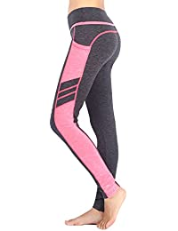 Munvot Legging de Sport Femme Taille Haute Collants Running Poches Pantalon  Amincissant Zumba Fitness fed9be0a978