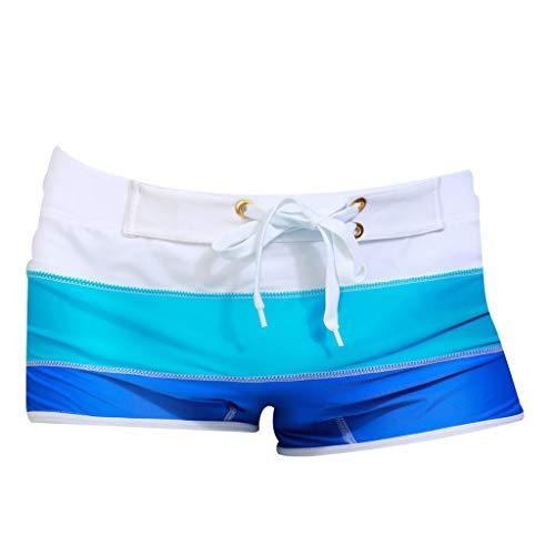 BURFLY Herren Sommer Gradienten Badehose Shorts Herren Straps Boxer Surfhose schnell trocknende ()