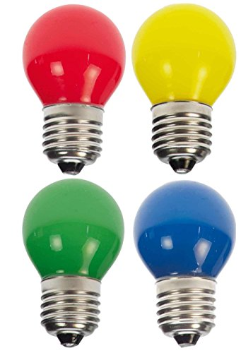 10 x LED Tropfen E27 1W bunt gemischt Deko Lampe Birne farbig für Deko Lichterketten -