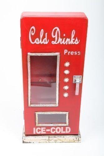 point home Design Schlüsselschrank Schlüsselkasten Schlüsselbox 'Getränkeautomat' im Retrolook aus Holz