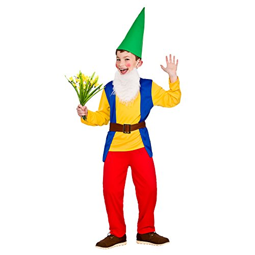 Boys Funny Garden Gnome Fancy Dress Up Party Costume Halloween Child Outfit