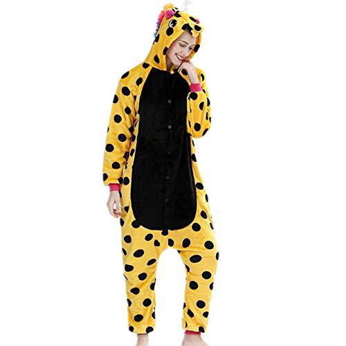 Superweicher Tier-Schlafanzug für Kinder und Erwachsene, flauschig, Flanell, mit Kapuze, warm und gemütlich, Nachtwäsche, Halloween, Cosplay-Kostüm, Unicorn 2, Fit Height (Übergröße Kaninchen Kostüm)