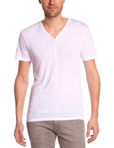Eleven Paris Herren T-Shirt L2 BASIC V BIS SS, Rundkragen, Uni Weiß (M99 Weiß)