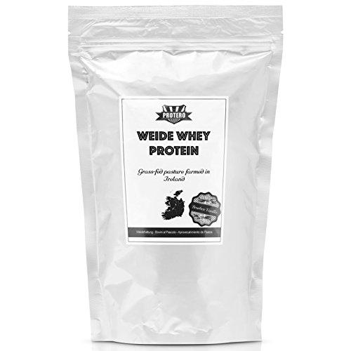 Protero Weide Whey Protein aus irischer Weidemilch - Vanille - 1kg (Bio-gras)