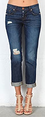 J Brand Blue Distressed Jeans Tg. 30 Aidan Slouchy Boy Jean Ringer 1214C035/C