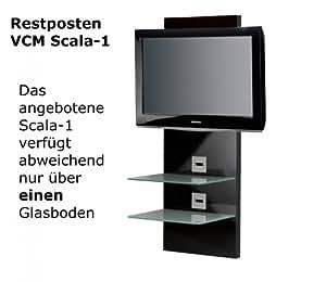 """VCM Scala 1 Support pour écran plat de 10"""" à 50"""" avec Tablette murale intégré pour périphériques audio vidéo"""