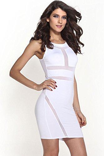 E-Girl femme Blanc SY21145 mini robe Blanc