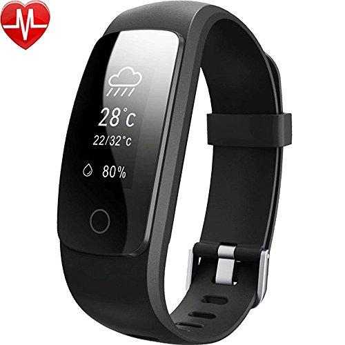 Pulsera inteligente,Willful Podómetro, Monitor de Ritmo Cardíaco,Dormir,Calorías,IP67 Impermeable, Cronómetro, Modo multideportePulsómetro Pulsera para Android y IOS Teléfono móvil