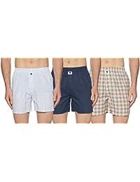 Symbol Amazon Brand Men's Printed Boxers (Pack of 3)