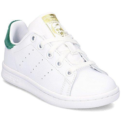 adidas Stan Smith C, Chaussures de Sport Mixte Enfant - Blanc - Blanc (Ftwbla/Ftwbla/Veruni), 31 EU