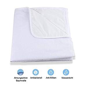 Karcore Matratzenschoner 60 x 120 cm Baby Wasserdicht Matratzenauflage Atmungsaktive, Baumwolle, Anti-allergisch Matratzenschutz für Babybett