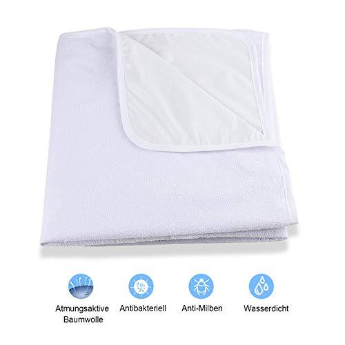 Karcore Wasserdicht Matratzenschoner 70 x 140 cm Baby Matratzenauflage Atmungsaktive, Baumwolle, Anti-allergisch Matratzenschutz für Babybett