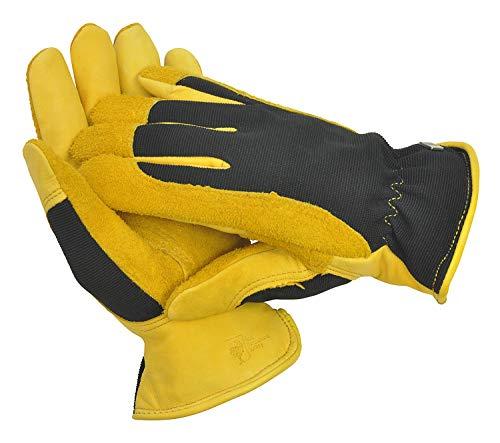 WAGNER Gold Leaf Gloves - WINTER TOUCH - Damen - Gartenhandschuhe der Extraklasse, Hirschleder / Thermo Thinsulate, Ski-Dri-Membran / RHS Auszeichnung - 25304100 -