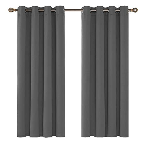 Deconovo Grey Blackout Curtains ...