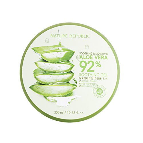 Nature Republic Soothing & Moisture Aloe Vera 92{4dd20c51e4a6541dc5fa7680af0a6f1442ea4ca2737c46489ff585fda5d55aaa} Gel, 300 Gram