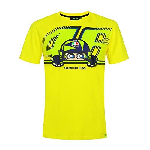 Valentino Rossi Vr46 Classic-Cupolino, T-Shirt Hombre, Amarillo, XXL