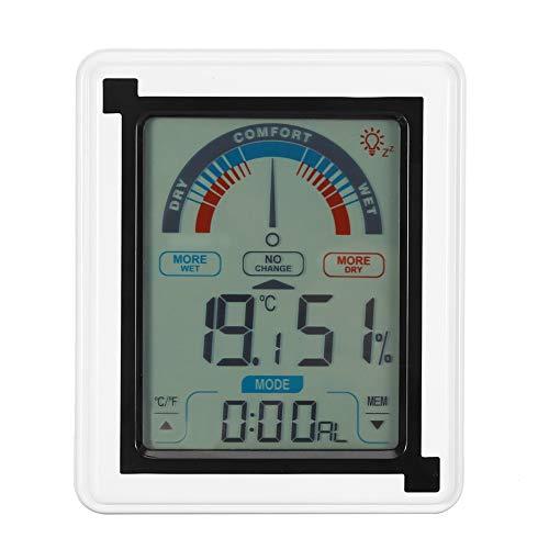 Wifehelper Reloj Meteorológico Digital Pantalla Táctil LCD Estación Pronóstico Meteorológico Reloj...