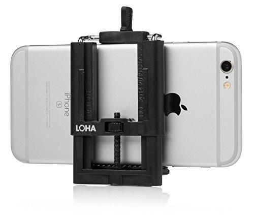 Handystativ-Adapter und iPhone-Halterung für Selfie Sticks, Universelle Halterung mit Grip passend für jedes Smartphone, Samsung Galaxy, Handy, Stativ und Selfie Stick