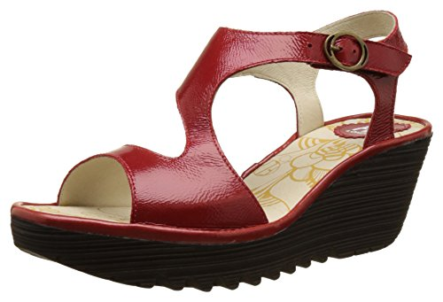 Fly London Women Yanca Wedge Sandals, Red (Red 027), 6 UK 39...
