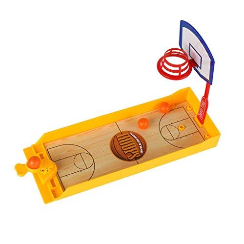 F-blue Lustige Basketball-Desktop Ejection Contest Mini Fußball Eishockey Golf Schießen Spiel Finger Spielzeug Assembled -