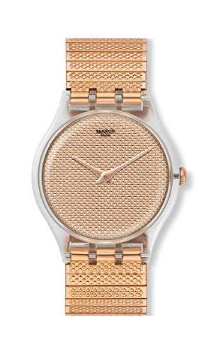 Swatch Reloj Analógico para Mujer de Cuarzo con Correa en Acero Inoxidable