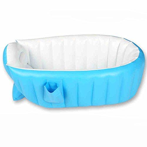 TIAN Aufblasbare Badewanne- Baby-Kinderpool Mehrschichtige aufblasbare Badewanne Garten-Außenpool Schwimmen Pool Planschbecken (Farbe : Blau)