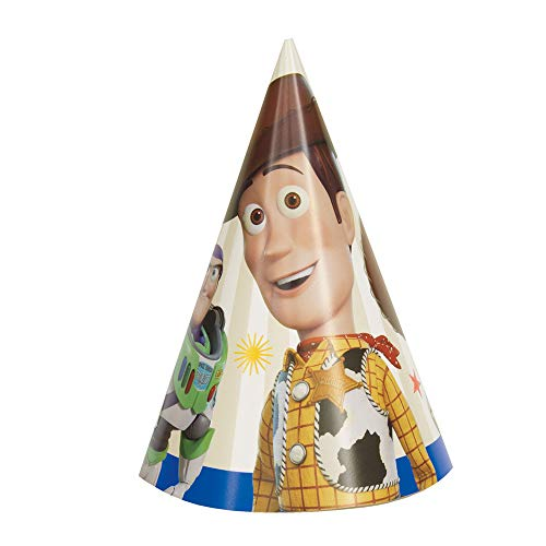 Unbekannt Disney Toy Story 4 Movie Paper Party Hats - 8 Per Package