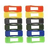 Sharplace 12 Stücke Gummi Uhrenarmband Schlaufe Gummihalter Halter Spind - Mehrfarbig