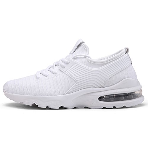 TORISKY Herren Damen Sportschuhe Laufschuhe mit Luftpolster Leichtathletik  Turnschuhe Air Schuhe Sneaker (A07-White42 23a06e008e