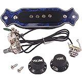 SUPVOX Pastilla de sonido con perillas de control de volumen de tono para caja de cigarros eléctrica de 4 cuerdas Pastilla de guitarra Humbucker