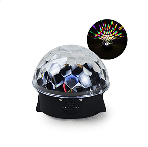 (AndF Bühnenlampen led mp3 bühne kristall magische Kugel licht eu (ac100-240v) größe: 20 * 20 * 15 cm)
