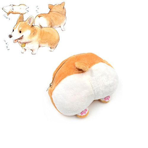 Image of YNuth Cute Purse Money Exchange Coin Exchange Corgi Hip Wallet Storage