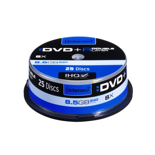 dvd 8gb Intenso DVD+R 8,5GB Double Layer 8x Speed 25er Spindel