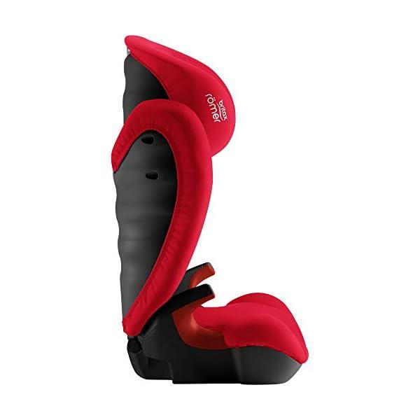 Britax Römer KID II BLACK SERIES Group 2-3 (15-36 kg) Car Seat - Fire Red Britax Römer High back booster protection Easy adjustable, ergonomic headrest Adjustable v-shaped backrest 6