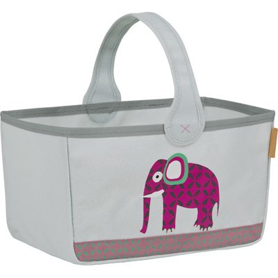 Lässig Storage Nursery Caddy Aufbewahrungstasche für Kinderzimmer, Wildlife Elephant
