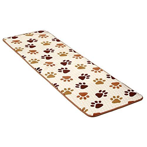 nunubee Weich Innen Wohnzimmer footcloth Matte Hochflor Shaggy Teppich Bereich Shag Teppich Pads, Polyester, Footprint, 19.5*62.4In