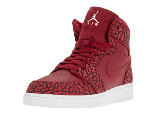 Nike Jungen Air Jordan 1 Retro Hi Prem Bg Basketballschuhe Rojo / Blanco (Gym Red / White-Team Red-White)