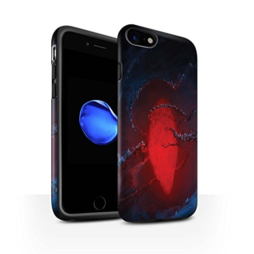 Offiziell Chris Cold Hülle / Matte Harten Stoßfest Case für Apple iPhone 7 / Schmelzen Sonne Muster / Fremden Welt Kosmos Kollektion Einfrieren