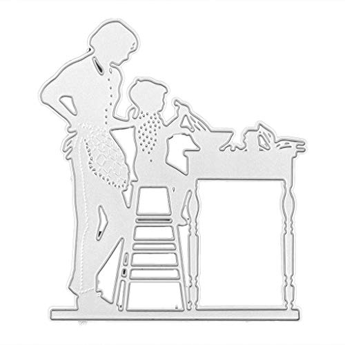 GuanjunLI 1 Set Esszimmer Handwerk Ausstechform Anhänger Metall Stanzformen Schablone DIY Scrapbooking Album Stempel Papier Karte Prägung Basteln Dekoration -