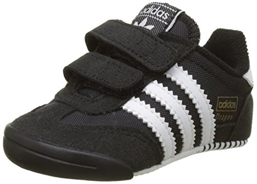 adidas Unisex Baby Dragon L2w Crib Sneakers, Schwarz (Core Black/Footwear White/Core Black), 18 EU