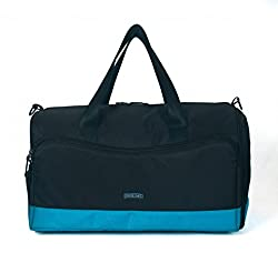 Protecta Alpha Gym & Travel Duffel (Black & Blue)